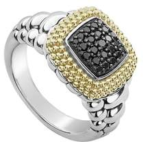 Lagos Diamond Lux Black Diamond Square Ring