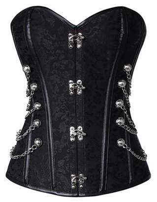 299bf5826f3a8 VDONA Women s Spiral Steel Boned Steampunk Gothic Bustier Corset Top Plus