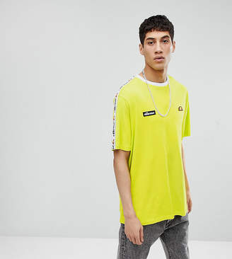 Ellesse Oversized T-Shirt With Taping In Green
