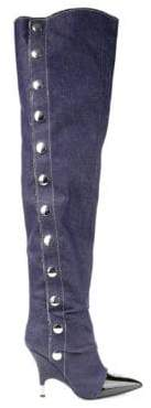 Giuseppe Zanotti Women's Denim Over-The-Knee Boots - Blue - Size 8