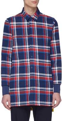 GEYM Tartan plaid twill shirt