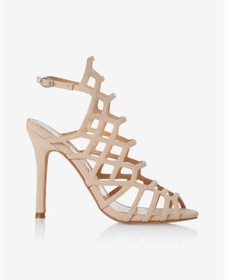 Express caged heeled sandals