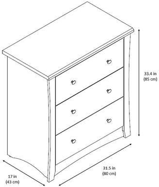 Stork Craft STORKCRAFT Storkcraft Crescent 3-Drawer Nursery Dresser - Cherry