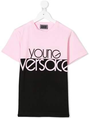 Versace colour block T-shirt