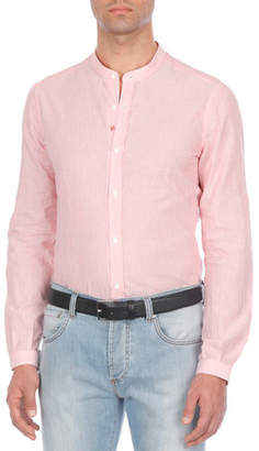 Isaia Textured Cotton-Blend Sport Shirt