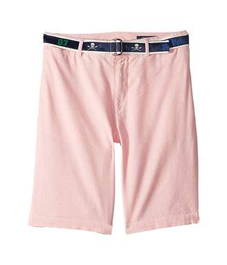 Polo Ralph Lauren Slim Fit Belted Stretch Shorts (Big Kids)