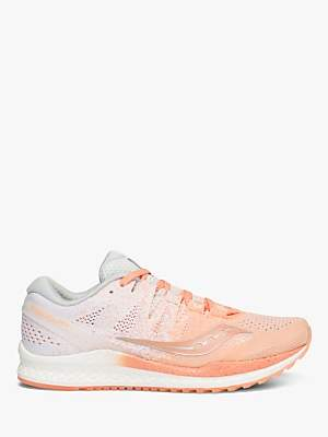 Saucony Freedom ISO 2 Women's Running Shoes, Peach/White