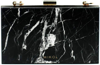 Mikol Mish Nero Marquina Marble Clutch