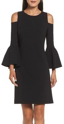 Women's Eliza J Cold Shoulder Crepe Dress $138 thestylecure.com