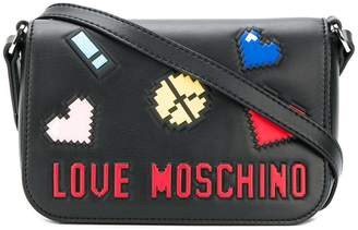 Love Moschino logo patch mini bag
