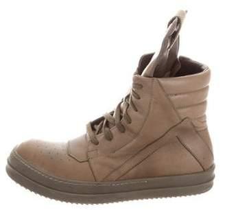 Rick Owens Geobasket High-Top Sneakers