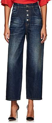MM6 MAISON MARGIELA Women's High-Rise Tapered Wide-Leg Jeans - Blue