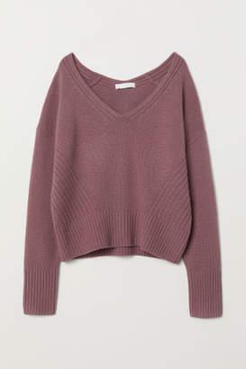 H&M V-neck Cashmere Sweater - Pink