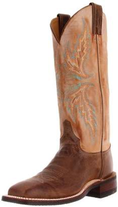 "Justin Boots Women's U.S.A. Bent Rail Collection 13"" Boot Wide Square Double Stitch Toe Performance Rubber Outsole"