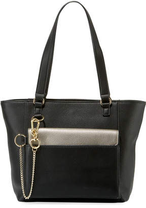 Neiman Marcus Michelle Leather Tote Bag w/ Pouch