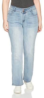 Angels Forever Young Women's Plus Size Curvy Bootcut Jeans,20W
