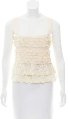 Valentino Sleeveless Lace Top w/ Tags