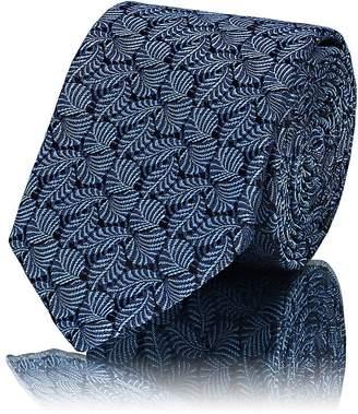 Lanvin Men's Leaf-Pattern Silk Jacquard Necktie