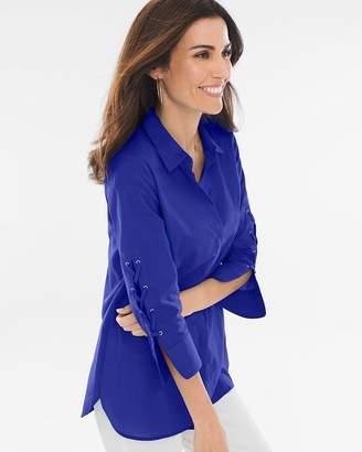 Lace-Up Sleeve Shirt