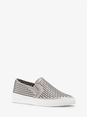 Michael Kors Olivia Leather Slip-On Sneaker