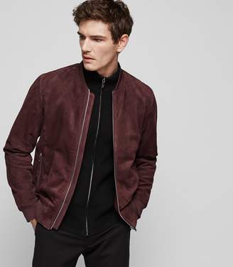 Reiss Venice Suede Bomber Jacket