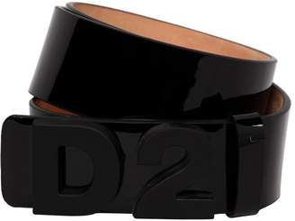 DSQUARED2 35mm Logo Patent Leather Belt