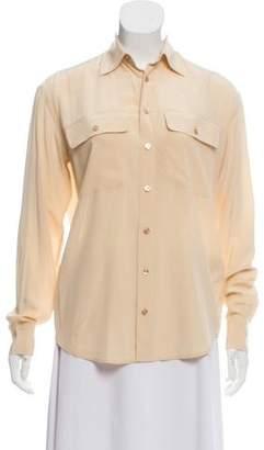 Ralph Lauren Long Sleeve Button-Up Blouse
