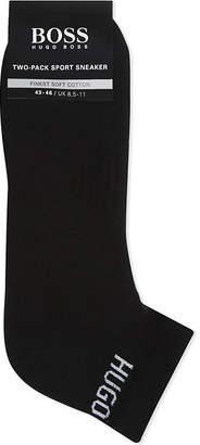 BOSS Logo cotton trainer socks pack of two