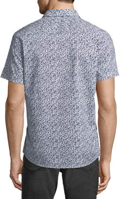 Slate & Stone Abstract-Print Short-Sleeve Sport Shirt