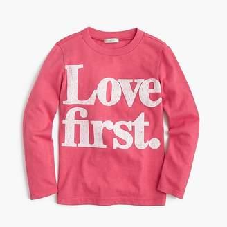 """J.Crew Kids' """"love first"""" T-shirt"""