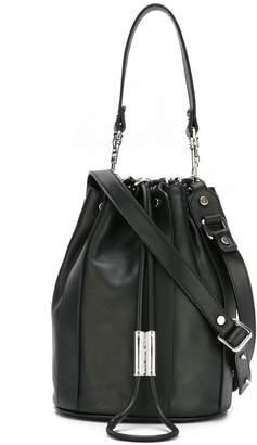 Diesel Black Gold stud detail satchel