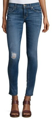 Hudson Krista Distressed Skinny Ankle Jeans, Fierce $205 thestylecure.com