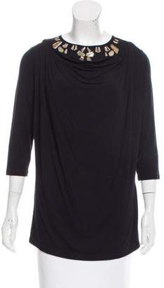 Givenchy Embellished Long Sleeve Top