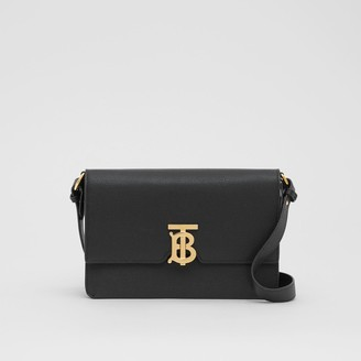 Burberry Small Monogram Motif Leather Crossbody Bag