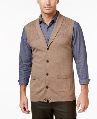 Tasso Elba Men's Big and Tall Shawl-Collar Vest, Only at Macy's $65 thestylecure.com
