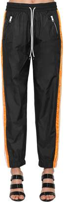 Kenzo Color Block Nylon Track Pants W/ Bands
