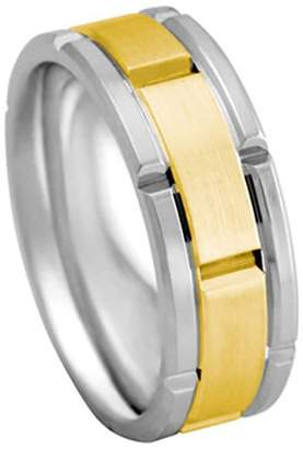 Rolex American Set Co. Men's 2TONE PLATINUM 18K YELLOW GOLD INSPIRED 8mm COMFORT FIT WEDDING BAND size 5