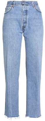 Levi's Re/Done By Frayed High-Rise Straight-Leg Jeans