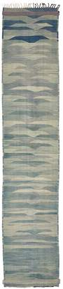 """ABC Home Moroccan Flat Weave Wool Runner - 3'7""""x17'5"""""""