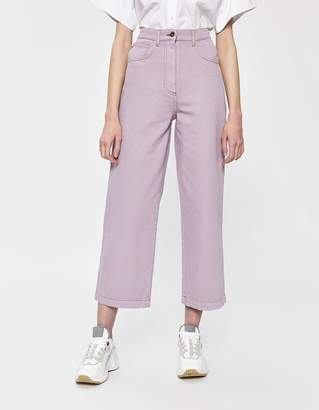 Nanushka Marfa Straight Jean in Lilac
