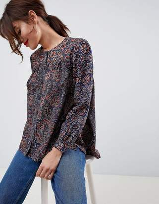 French Connection Marietta Printed Blouse