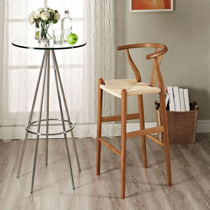 Modway Amish Wooden Bar Stool