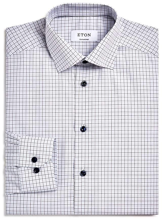 Eton Hairline Check Regular Fit Dress Shirt