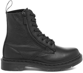 Dr. Martens Women's Pascal Aunt Sally Leather Xip 8-Eye Boots - Black