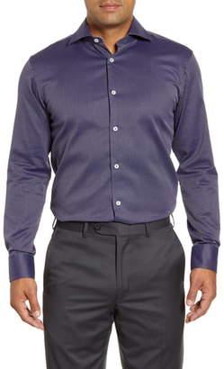 Bugatchi Trim Fit Geometric Print Dress Shirt