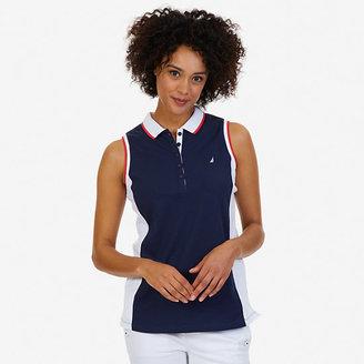 Colorblock Sleeveless Polo Shirt $54.50 thestylecure.com