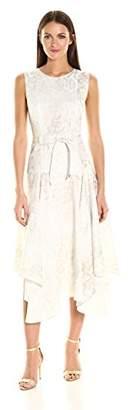 Calvin Klein Women's Printed Belted Handkerchief Dress