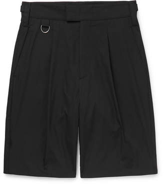 Stella McCartney Pleated Cotton Bermuda Shorts
