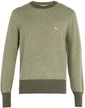 MAISON KITSUNÉ Crew-neck lambswool sweater