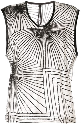 Taylor Sequin Sector sleeveless top